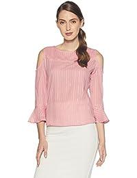 Style Quotient by noi Women's Plain Regular Fit Cotton Top