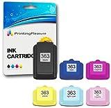 Printing Pleasure 6 XL Tintenpatronen kompatibel zu HP 363 für Photosmart 3100 3108 3110 3200 3210 3310 8200 8230 8250 C5100 C5140 C5150 C5160 C5170 C5175 C5180 C5185 C5190 C5194 C6150 C6160 C6170 C61