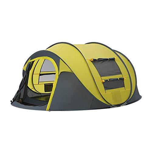 Wurfzelt Im Freien Automatische Zelte Werfen Pop Up Wasserdicht Camping Wandern Zelt Wasserdicht Große Familienzelte,Yellow