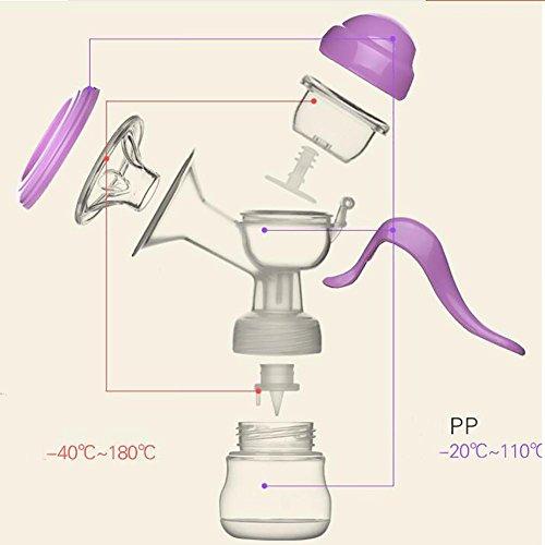 Lactancia postparto púrpura - bomba de succión de mama succión bomba de pecho grande y silencioso