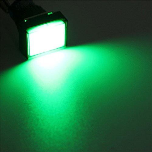 Preisvergleich Produktbild EsportsMJJ 16mm Dc 12V Push Button Selbst-Reset Led Licht Momentary Switches -Green