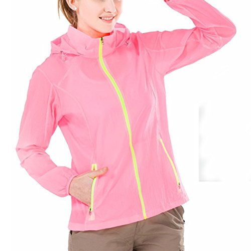 Zhhlaixing Outdoor Skin Protection Windbreaker Male Sunscreen Ladies Crème solaire Waterproof Sports Skin Clothing pink