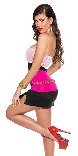 Elegantes Party-Top im Bandeau-Schnitt Rosa/Pink