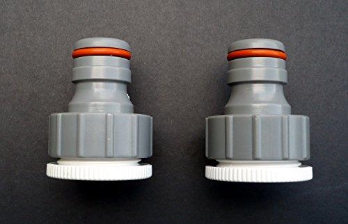 Robinet à visser Connecteurs pour filetage BSP 3/10,2 x 2,5 cm Tuyau. 3/10,2 x 2,5 cm. Lot de 2