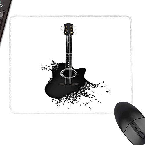 HMdy88PT Gitarre handgezeichneter Stil E-Gitarre auf weißem Hintergrund Rock Music Accords Sketch Art Custom Mouse padled W8 xL9.5 Schwarz/Weiß W12 x27.5 Color03 -