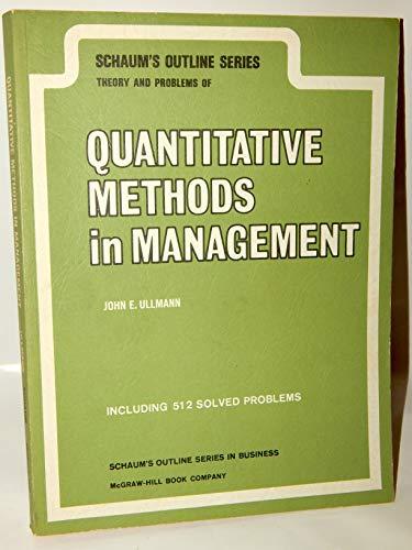 Quantitative Methods in Management (Schaum's Outline Series) por J. Ullman