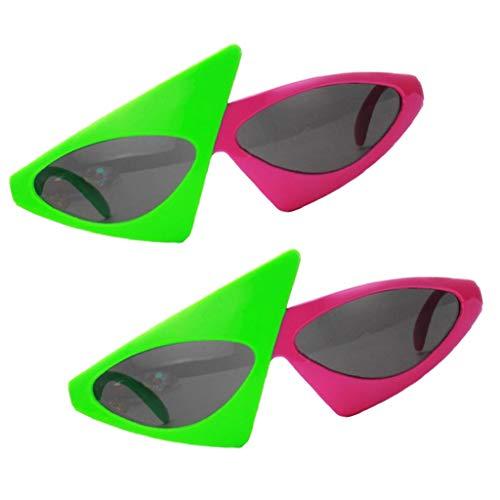 Baoblaze 2er Set Lustige Sonnenbrille Roy Purdy Partybrille Sapßbrille Funbrille Dekobrille Party Kostüm Zubehör