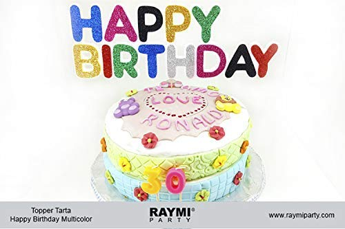 Topper Tarta Happy Birthday Multicolor