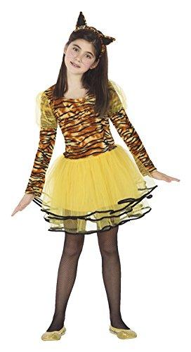 ATOSA 26493 - Tigerin, Mädchen, Größe 140, braun/gelb
