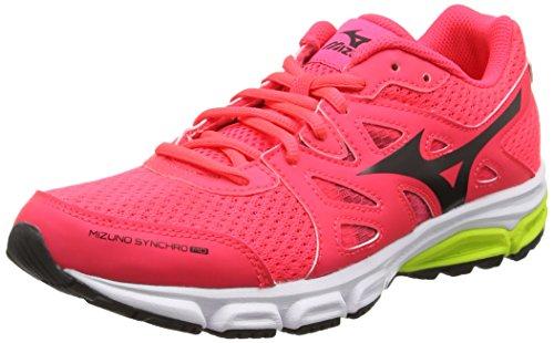 MizunoMizuno Synchro Md - Zapatillas de running mujer, color rosa (diva pink/black/safety yellow), talla 43 EU (9 UK)