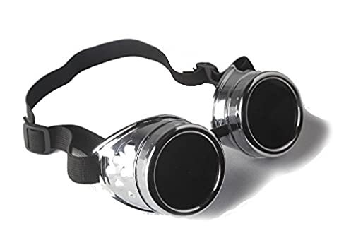 Vintage Steampunk Goggles Cyber Glasses Victorian Punk Style Welding Cosplay
