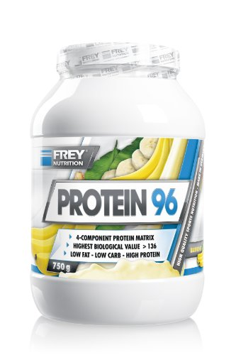 Frey Nutrition Protein 96 Banane Dose, 1er Pack (1 x 750 g)