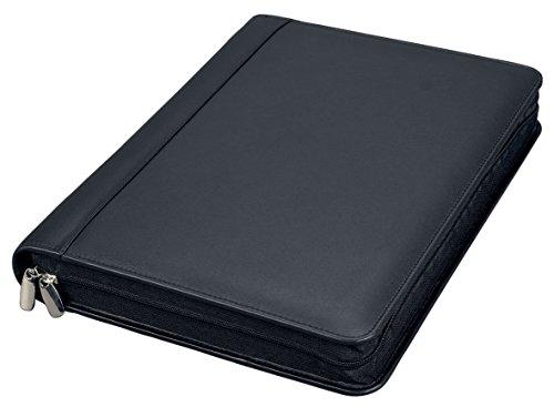 Alassio 30061 - Ringbuchmappe A4 BOSA, aus Nappaleder, schwarz, ca. 35 × 27 × 5 cm