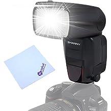 Shanny SN600SC GN62Master Flash HSS 1/8000s–Flash E-TTL Flash Speedlite para Canon EOS DSLR 500d 550d 600d 650d 700d 1000d 1100d 1200d 60d 70d 6d 7d 5d + Mcoplus paño de limpieza
