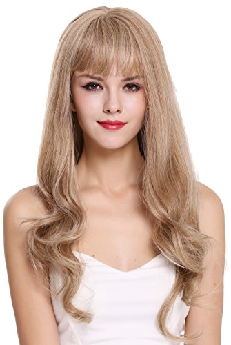 WIG ME UP - H950D-27/613A Perücke Damenperücke lang Pony glatt gewellte Spitzen Blond Mix