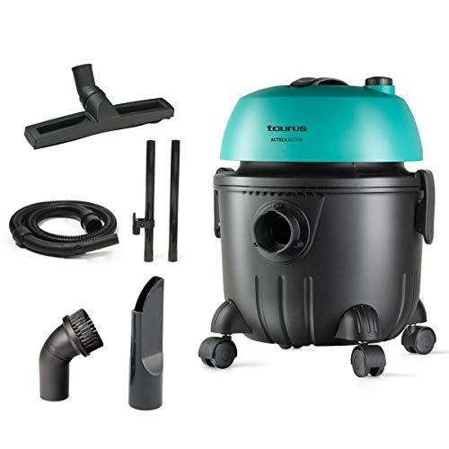 Taurus - Aspirador industrial multiuso Ateca Actove. Wet&Dry para líquidos y sólidos. Diseño compacto...