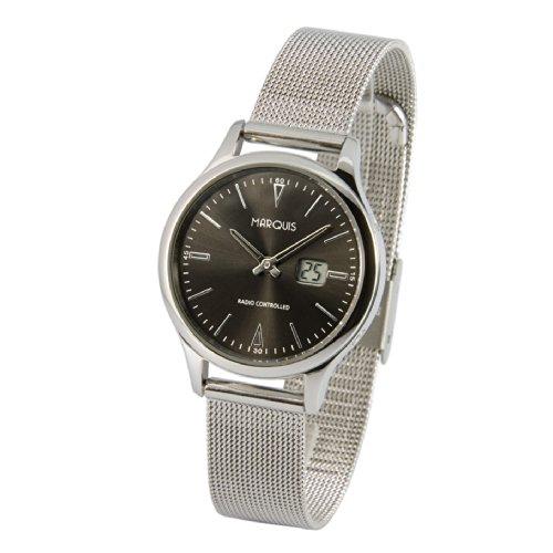Elegante Damen Funkuhr (Junghans-Uhrwerk) Milanaise Armband , Edelstahlgehäuse 964.5101