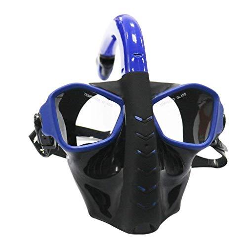 LF stores Buceo Máscaras Máscara de Buceo de Cara Completa Equipo de Buceo Pesca submarina Buceo con esnórquel Pesca submarina antiniebla para Nadar Snorkel Máscaras (Color : Blue)
