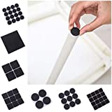 GETKO WITH DEVICE Self Sticking Non Skid Floor Protector Noise Insulation Pad (Black) - Set of 120 Pieces