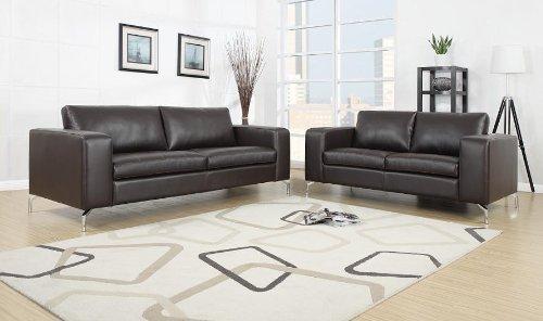 Madison Wohnlandschaft 3-,2- Sitzer / Polstergarnitur / Couch-Set / Kunstleder - dunkelbraun