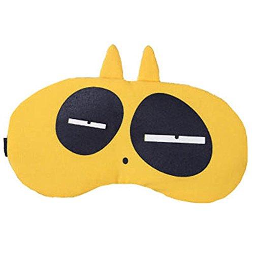 Schlafmaske Schlafenaugen-Abdeckung Super-Smooth Augenmaske für Reise, Fluoreszierendes Gelb