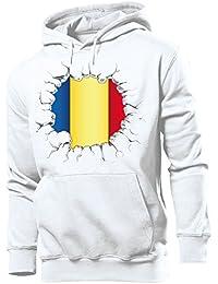 FUSSBALL - FANARTIKEL - Rumänien Herren Hoodie Gr.S bis XXL