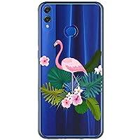 Oihxse Case Transparente Suave TPU Compatible con Huawei Mate 20 Pro Funda [Lindo Caricatura Flor Serie Dibujos] Cristal Protector Carcasa Anti Rasguños Bumper Cover-Flamenco
