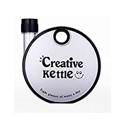 Tuelip Creative Kettle Bottle for Kids, Travel and Office Use BPA Free Plastic water bottle 350 ml Black