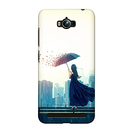 Asus Zenfone Max Premium Stylish Printed Designer Hard Back Cover Case | Girl with Umbrella Art | Alone | Colorful | Art | Scratch Proof | Lifetime Printing Guarantee | HD Printing Quality | Waterproof | Durable | Slim Light Weight | Matte Polycarbonate Plastic Case Cover | 3 Side Edge to Edge Printing - Crazyink
