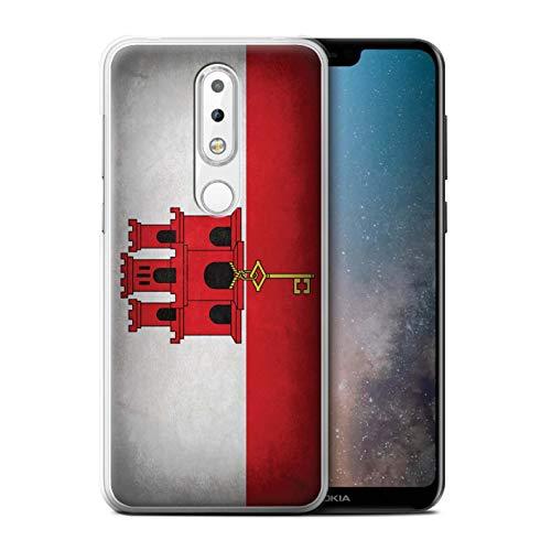 eSwish Phone Case/Cover for Nokia 6 Plus 2018 / Gibraltar/Gibraltarian  Design/Flags Collection