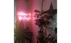 Welcome To The Jungle Real Glass Neon Sign For Bedroom Garage Bar Man Cave Room Home Decor Personalised Handmade Artwork Visual Art Dimmable Wall Lighting Includes Dimmer