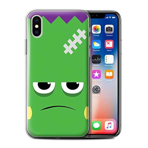 Stuff4 Gel TPU Hülle / Case für Apple iPhone X/10 / Teufel Muster / Halloween Zeichen Kollektion Frankenstein