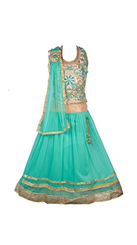 My Lil Princess Baby Girls Birthday Party wear Frock Dress_Green Lehenga Choli_Net...