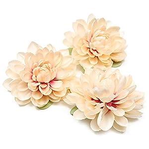 KBWL Seda Artificial Dalia Flor Artificial Margarita Cabeza de la Boda decoración del hogar DIY Flor decoración de la Pared Tocado Broche champán
