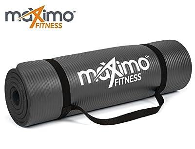 Maximo Fitness Übungsmatte - Premium Qualität NBR Fitnessmatte - 183 cm Länge x 60 cm Breite x 1,2 cm Extra-Dick - Mehrzweck-Verwendung - Perfekt für Yoga, Pilates, Sit-ups und Dehnen - Lebenslange Garantie.