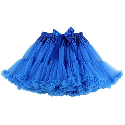 Buenos Ninos Women's Petticoat Mini Tutu Skirt Chiffon Ballet Dance Pettiskirt 2 Layered