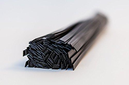 Kunststoff Schweißstab Starter Mix ABS, PP, PP/EPDM, 6mm flache Form, schwarz, 30Stück (Plastic Welding-tools)