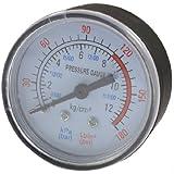 0–180PSI 0–12Bar Coque en plastique noir Air Pression manomètre à cadran numérique