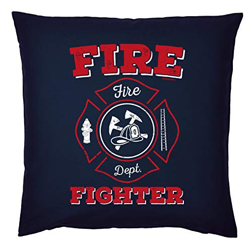 Mega-Shirt Feuerwehr Polsterbezug Feuerwehr Motiv Feuerwehr freiwillige Feuerwehr Kissenbezug Fire Fighter Fire Dept.
