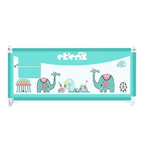 XUE Extra hohe Bettgitter für Kleinkinder, Faltbare Babybettgitter für Kinder für Kingsize-Bett, Blau, 88 cm Höhe,200cm/78.74inchs - 78-zoll-gardinenstange