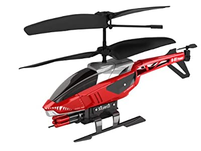 Silverlit Heli Blaster 3-Channel Remote Control Helicopter with Six Rockets (Colour varies)