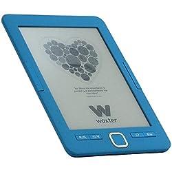"Woxter Scriba 195 - Lector de libros electrónicos de 6"" (800 x 600, e-ink pearl pantalla más blanca, EPUB, PDF, micro SD, guarda más de 4000 libros, textura engomada) color azul"