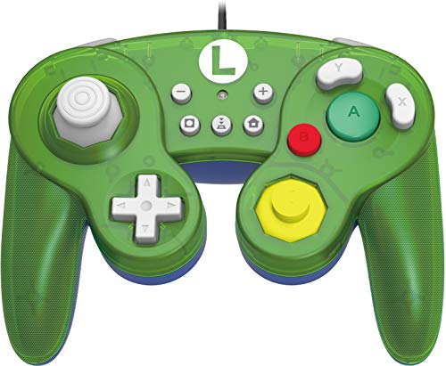 HORI Nintendo Switch Battle Pad (Luigi) Controller im GameCube-Stil [ ]