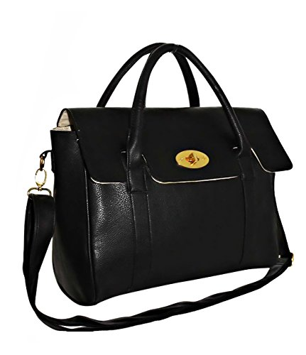 EyeCatch - Womens Faux Leather Shoulder Strap Bag Sac à main Ladies Satchel