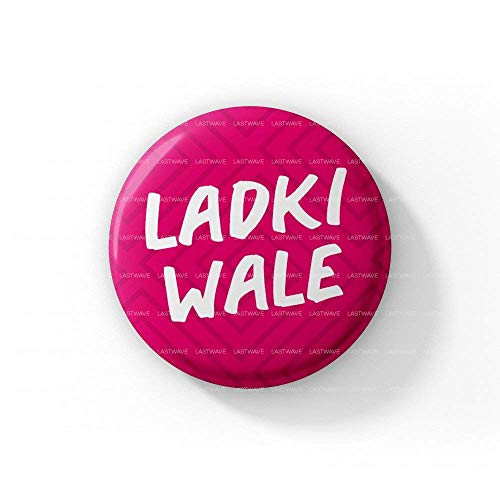 LASTWAVE Wedding Collection |Ladkiwale |Pinback Badge (44 mm, Set of 15)