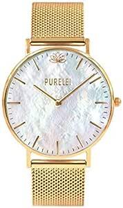 PURELEI® Damen Armbanduhr (Edelstahl & Gold) individuell Größenverstellbar (Handgefertigt)