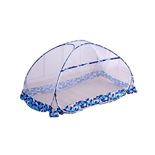 LIJIE Moskitonetze, tragbar, kostenlose Installation und Faltnetze, Pop-Up-Zelt, Mückenschutz, Insektenschutz, Einzelbett, ideal für hohe und niedrige Bett, für Innen- und Außenbereich, blau