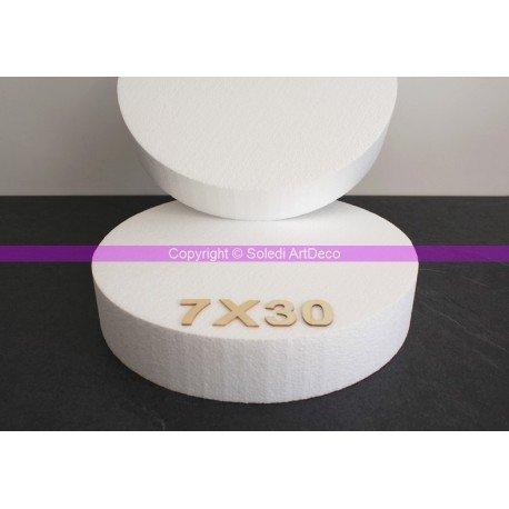 Lealoo Disque épaisseur 7 cm, diamètre 30 cm, polystyrène Pro Haute densité, 28 kg/ m3