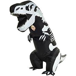 Morphsuits Disfraz de mckgits gigante esqueleto inflable Niños Disfraz–Un tamaño