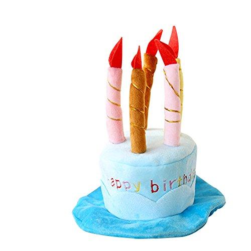 wicemoon Weiches Warmes Pet Hund Cute Kuchen Cap Geburtstag Kerzen Stil Design Party Kostüm Zubehör mit Kopfbedeckungen für Welpen Hund - Geburtstag Kuchen Kostüm